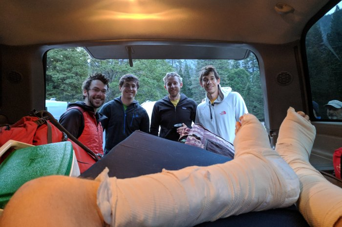 Alex Honnold and Tommy Caldwell set speed record el captian nose