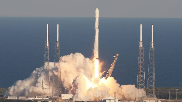 A SpaceX Falcon 9 rocket carrying a TESS spacecraft lifts off on Wednesday, April 18, 2018, from Space Launch Complex 40 at Cape Canaveral Air Force Station in Florida. TESS, which stands for Transiting Exoplanet Survey Satellite, is a telescope/camera that will hunt for undiscovered worlds around nearby stars, providing targets where future studies will assess their capacity to harbor life, NASA says.