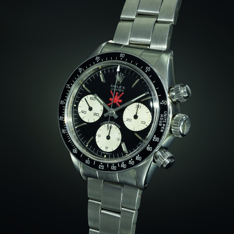 This Rolex Daytona, known as the Red Sultan, was auctioned off this weekend.