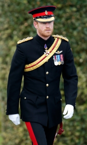 ALREWAS, UNITED KINGDOM - NOVEMBER 11: (EMBARGOED FOR PUBLICATION IN UK NEWSPAPERS UNTIL 48 HOURS AFTER CREATE DATE AND TIME) Prince Harry attends the Armistice Day Service at the National Memorial Arboretum on November 11, 2016 in Alrewas, England. Armistice Day commemorates the signing of the armistice in WW1 between the Allies and Germany at 11am on November 11, 1918. At the exact time and date each year after Britain has held a two minute silence to remember the dead from the First and Second World Wars and the 12000 British Service personal who have been killed or injured since 1945. (Photo by