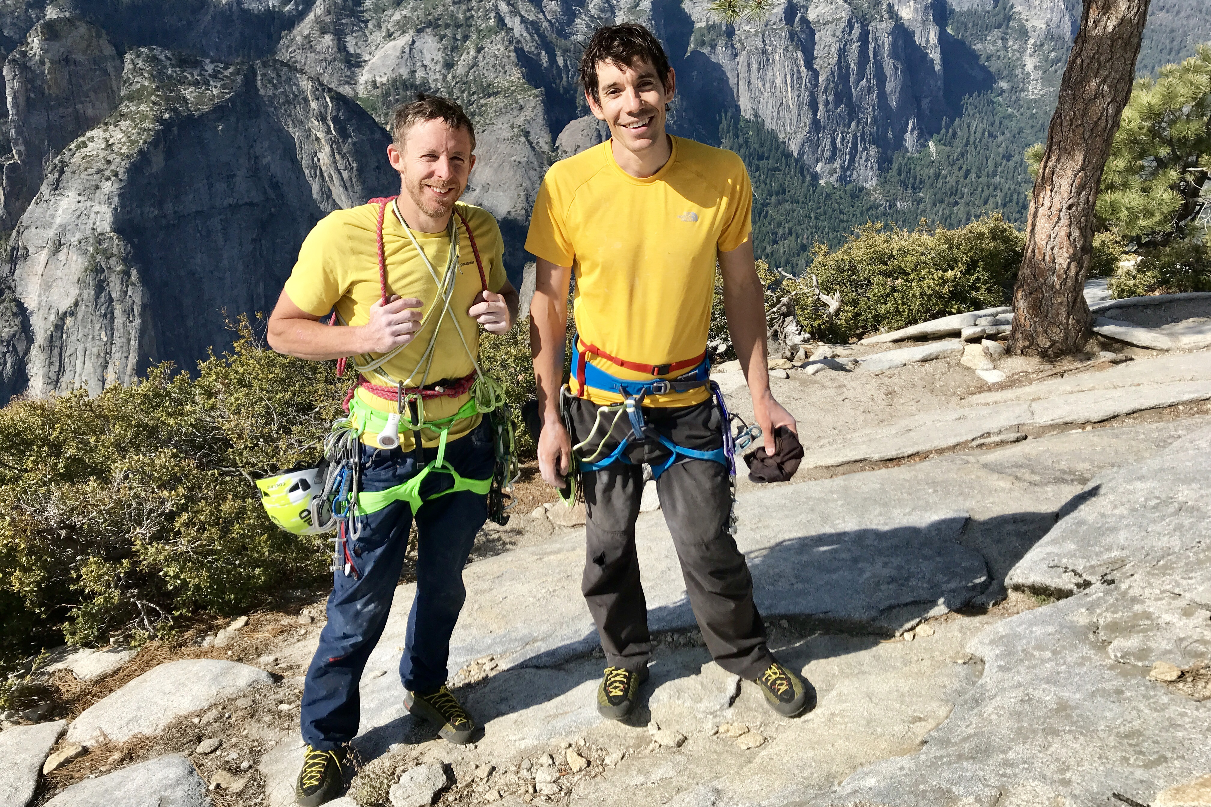 Tommy Caldwell and Alex Honnold on summit