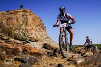 Mountain biker participating in Nedbank Tour de Tuli