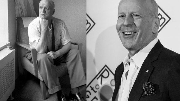 Legendary boxing coach Cus D'Amato and actor Bruce Willis