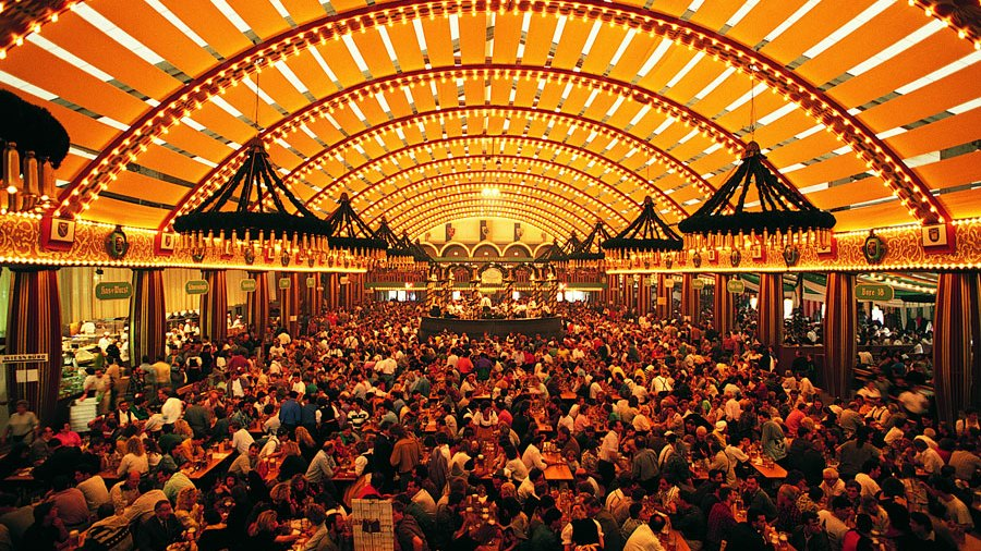 Beer hall in Munich, Germany