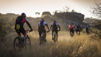 Mountain bikers participating in Nedbank Tour de Tuli
