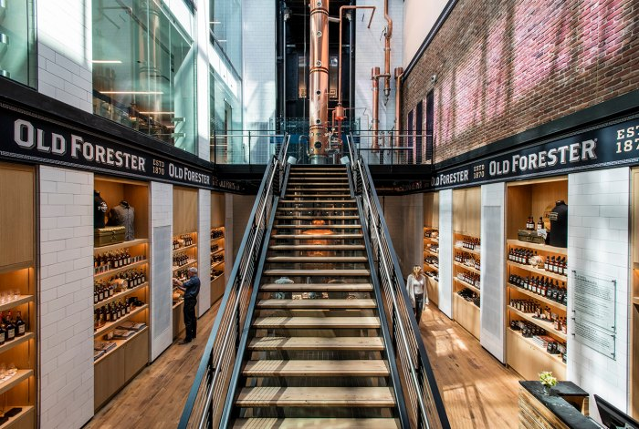 The interior of Old Forester's new facility in downtown Louisville.
