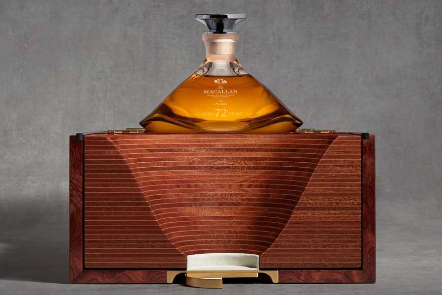 This 72-year-old whisky from The Macallan comes encased in a wood box and a Lalique bottle.