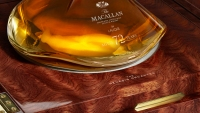 A closeup of a 72-year-old single malt from The Macallan.