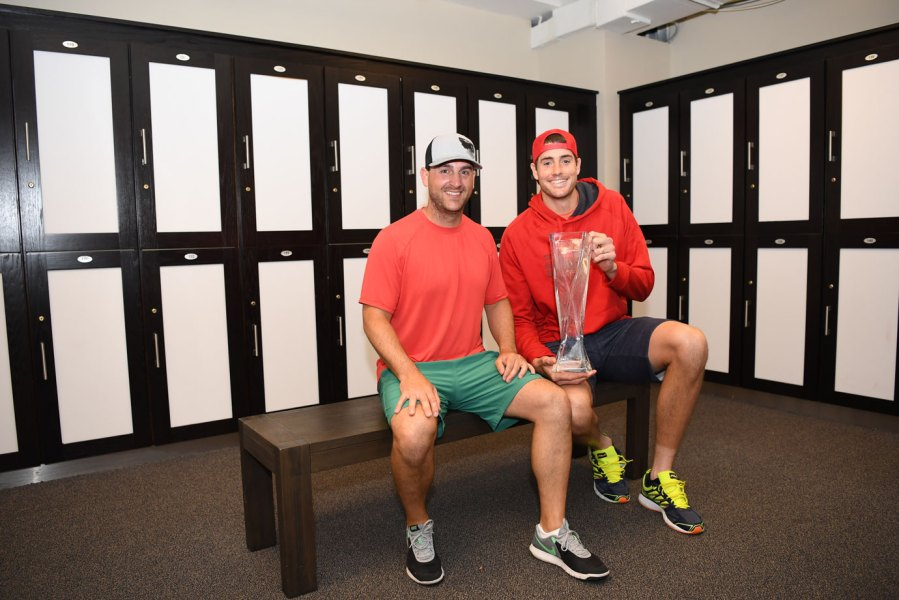 John Isner with chiropractor Clint Cordial