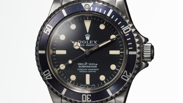 A Rolex Submariner once owned by Steve McQueen.