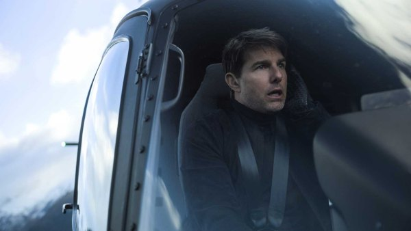 Tom Cruise in helicopter for Mission Impossible—Fallout