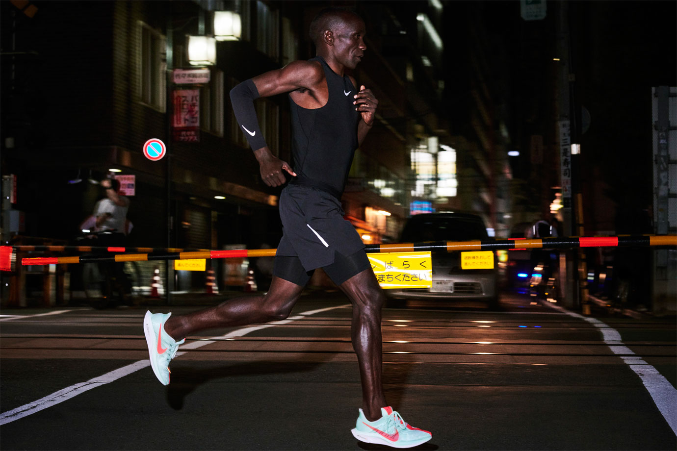 Eliud Kipchoge running in Nike Zoom Pegasus Turbo