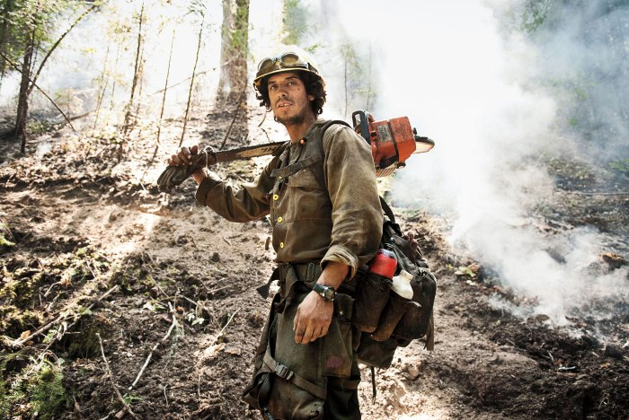 Firefighter and disaster-cleanup specialist Tirso Rojas in 2012 during a fire in Northern California