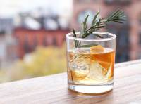 Cinnamon Rosemary Old Fashioned scotch cocktail