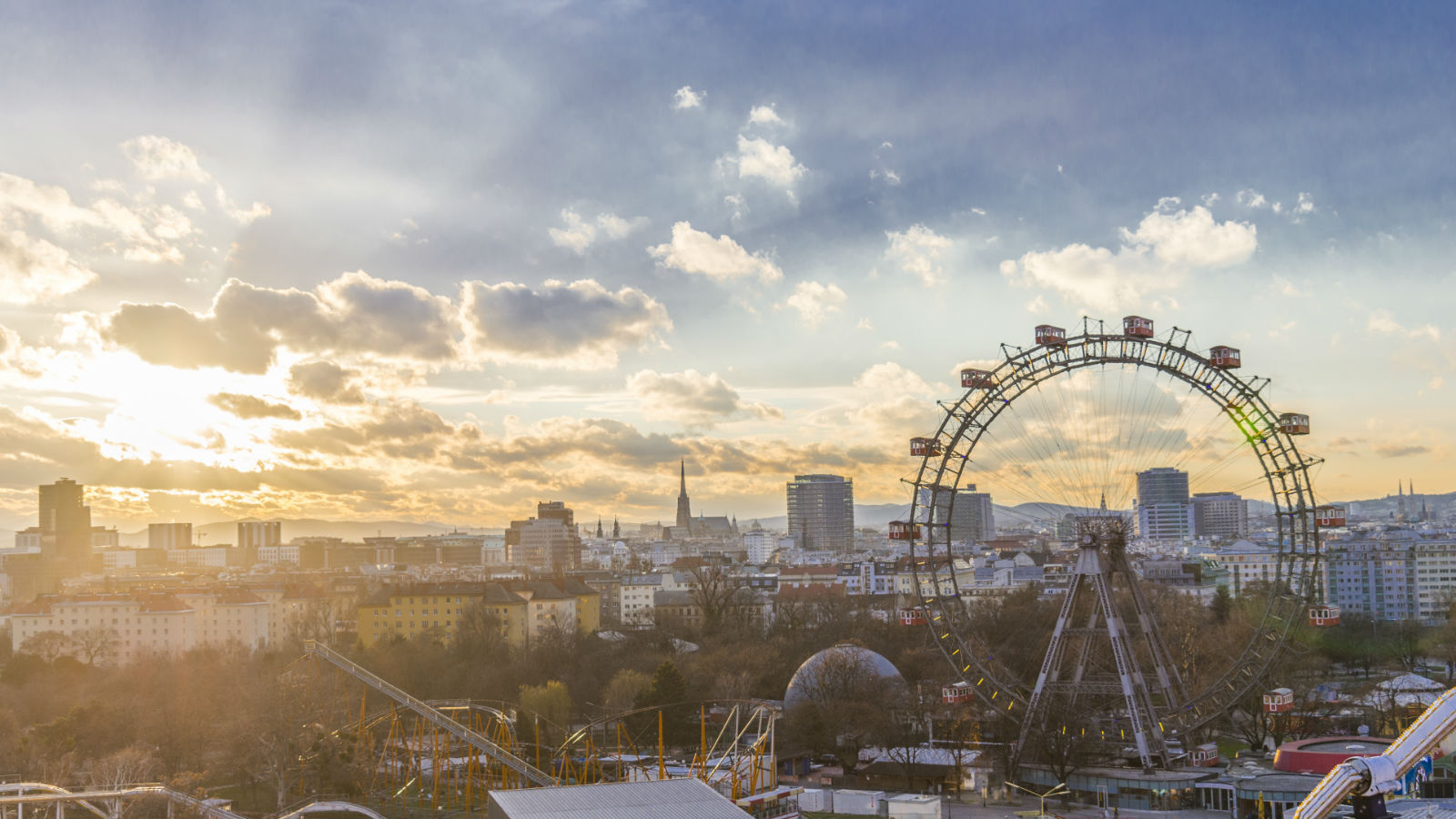 Sunset in Wiener Riesenrad