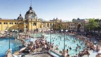 The Szechenyi Thermal Bath in Budapest, Hungary.