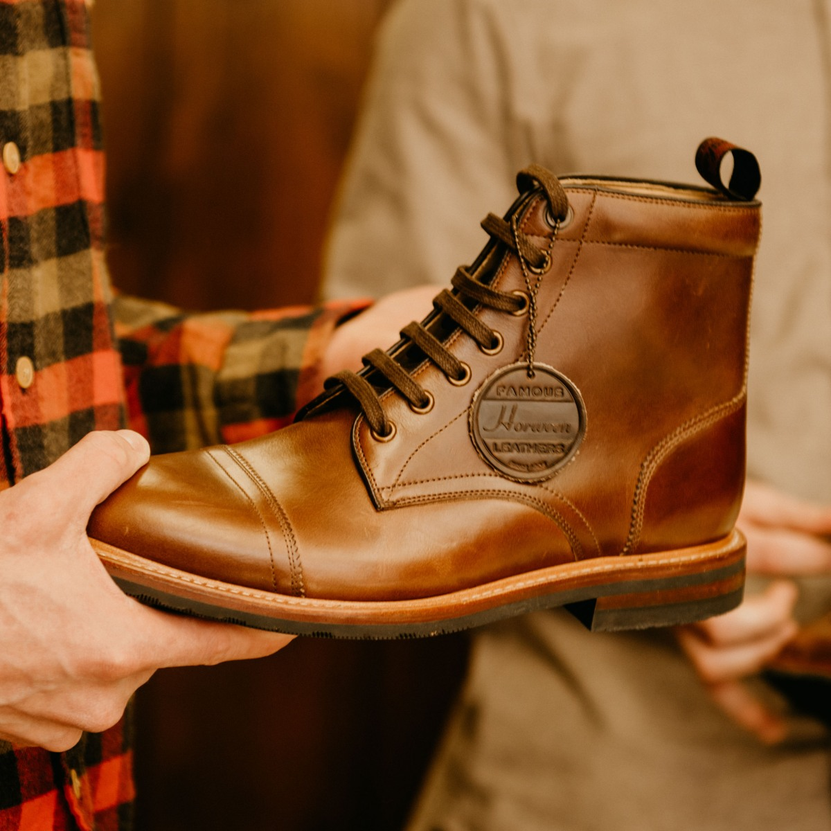 Heres How Horween Created Leather For Florsheims New Boot Collection Cut Engineer Classic Shoes Iron Safety Boots Dark Brown