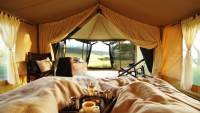 Interior of luxury safari camp. Piyaya, Serengeti National Park, Tanzania