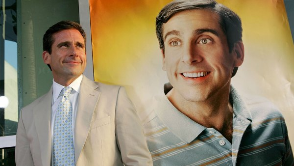 Actor/writer/executive producer Steve Carell arrives at the premiere of Universal Studios 'The 40 Year-Old Virgin' at Arclight Hollywood on August 11, 2005 in Hollywood, California.