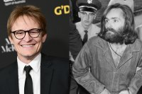 Damon Herriman attends 2018 G'Day USA Los Angeles Black Tie Gala at InterContinental Los Angeles Downtown on January 27, 2018 in Los Angeles, California. (Photo by Emma McIntyre/Getty Images) Charles Manson is escorted to court for preliminary hearing on December 3, 1969 in Los Angeles, California. (Photo by John Malmin/Los Angeles Times via Getty Images)