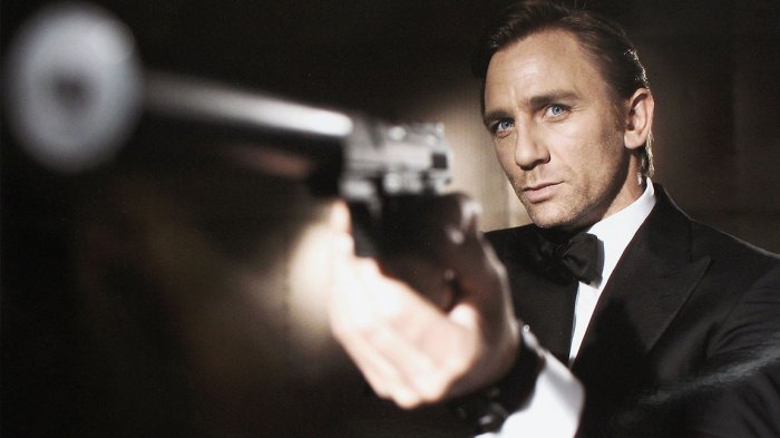 Actor Daniel Craig poses as James Bond. Who will be the next James Bond? Craig was unveiled as legendary British secret agent James Bond 007 in the 21st Bond film Casino Royale, at HMS President, St Katharine's Way on October 14, 2005 in London, England.