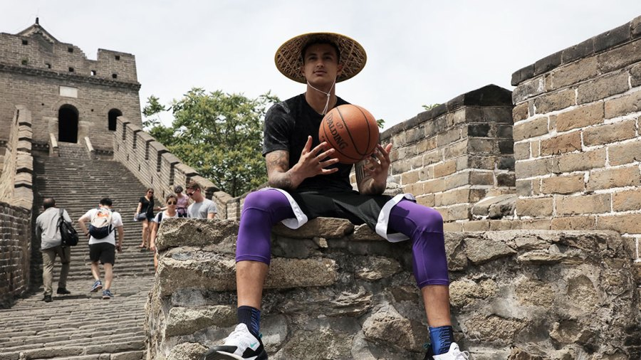 Kyle Kuzma, Los Angeles Lakers star in China with NBA, Great Wall of China