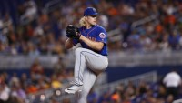 Mets Marlins Baseball, Miami, USA - 13 Jul 2019 New York Mets starting pitcher Noah Syndergaard (34) in action during a baseball game against the Miami Marlins, in Miami 13 Jul 2019 Image ID: 10333842u Featured in: Mets Marlins Baseball, Miami, USA - 13 Jul 2019 Photo Credit: Brynn Anderson/AP/Shutterstock