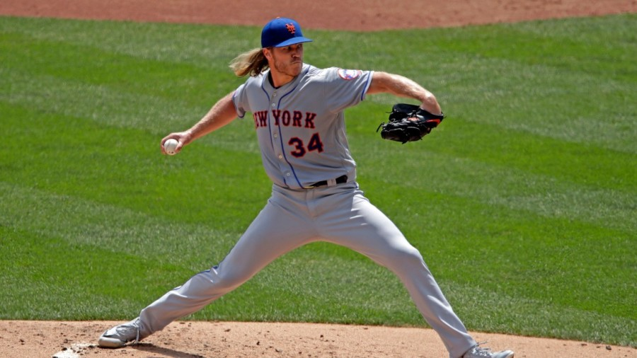 Mets Pirates Baseball, Pittsburgh, USA - 04 Aug 2019 New York Mets starting pitcher Noah Syndergaard delivers during the second inning of a baseball game against the Pittsburgh Pirates in Pittsburgh 4 Aug 2019 Image ID: 10354062m Featured in: Mets Pirates Baseball, Pittsburgh, USA - 04 Aug 2019 Photo Credit: Gene J Puskar/AP/Shutterstock