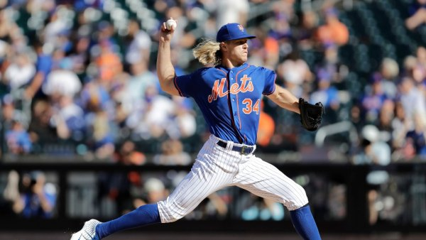 Braves Mets Baseball, New York, USA - 29 Sep 2019 New York Mets starting pitcher Noah Syndergaard (34) winds up during the first inning of a baseball game against the Atlanta Braves, in New York 29 Sep 2019 Image ID: 10429931i Featured in: Braves Mets Baseball, New York, USA - 29 Sep 2019 Photo Credit: Kathy Willens/AP/Shutterstock