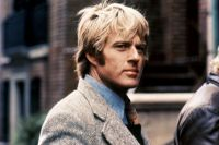 American actor Robert Redford on the set of Three Days of the Condor based on the novel by James Grady and directed by Sydney Pollack.