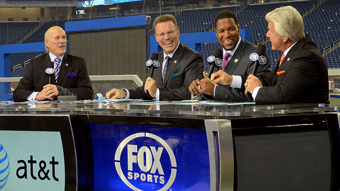 Fox S Thursday Football Studio Show Comes To Nyc With Michael Strahan