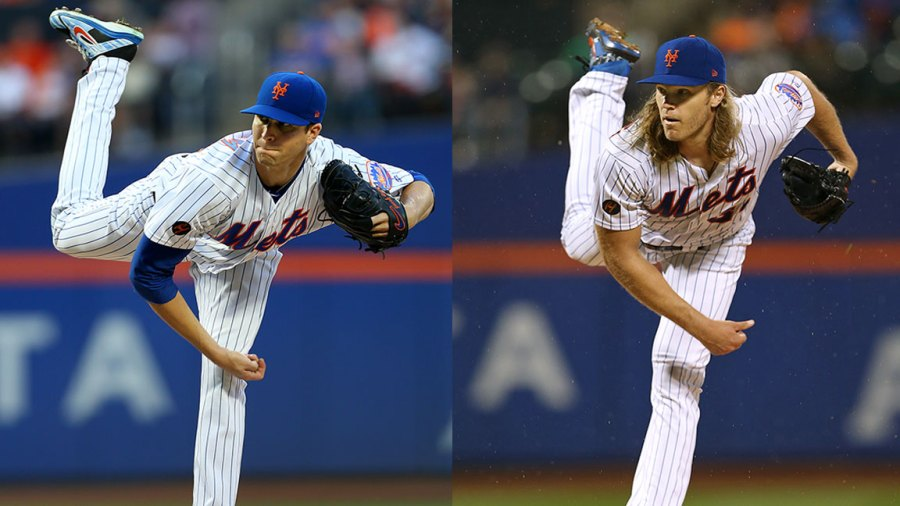 Mets pitchers Noah Syndergaard and Jacob DeGrom