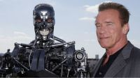 Actor Arnold Schwarzenegger poses during a photo call for the film 'Terminator Genisys' on June 19, 2015 in Paris. Arnold Schwarzenegger is back: the 'Terminator' star has released a new action-packed trailer for his return to the franchise which made his name.