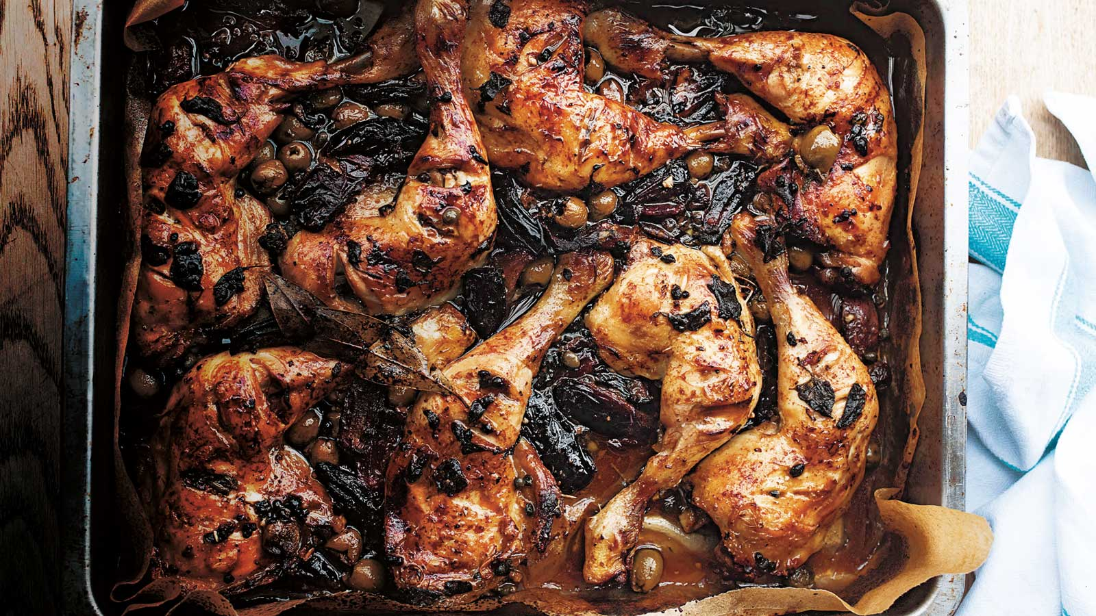 Chef Yotam Ottolenghi's Chicken Marbella With Dates, Olives, and Capers