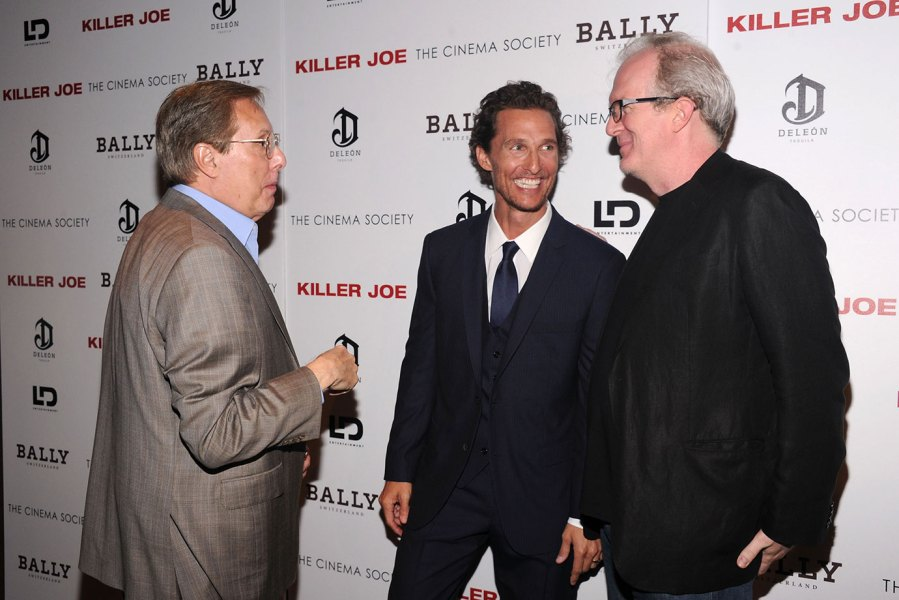 Director William Friedkin, actor Matthew McConaughey and writer Tracy Letts attend the Cinema Society with Bally & DeLeon hosted screening of LD Entertainment's 'Killer Joe' at the Tribeca Grand Hotel - Screening Room on July 23, 2012 in New York City. (Photo by Jamie McCarthy/WireImage)