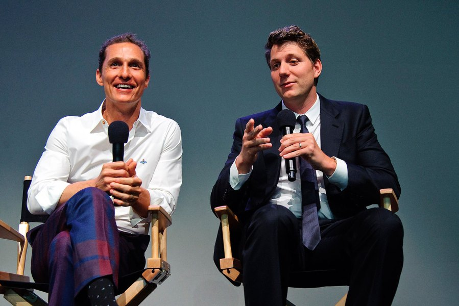 Actor Matthew McConaughey and Director Jeff Nichols attend Meet The Filmmakers at the Apple Store Soho on April 21, 2013 in New York City. (Photo by Debra L Rothenberg/FilmMagic)