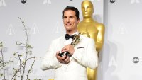 Actor Matthew McConaughey poses in the press room at the 86th annual Academy Awards at Dolby Theatre on March 2, 2014 in Hollywood, California. (Photo by Jason LaVeris/WireImage)