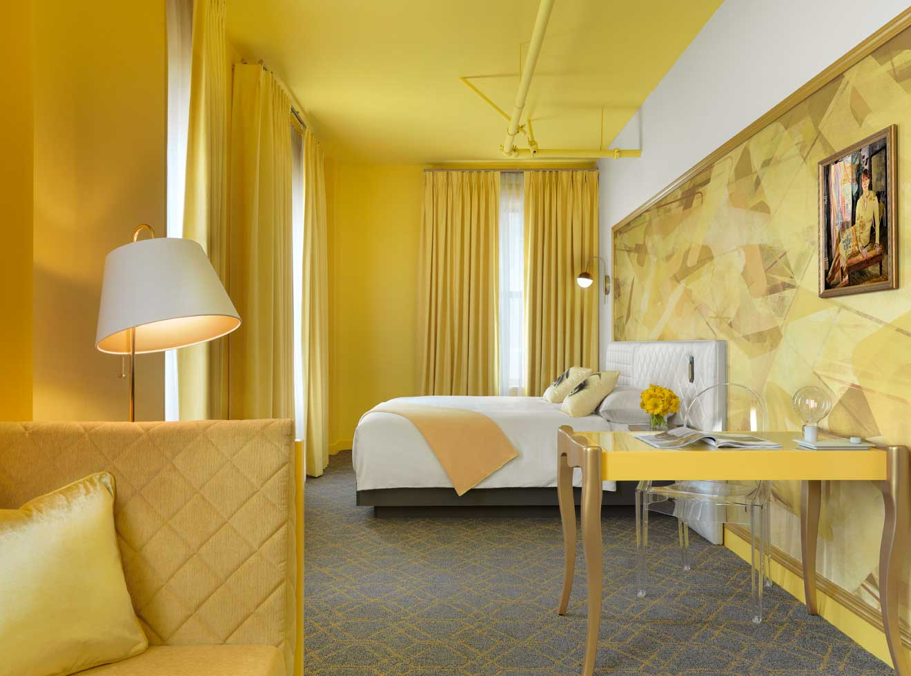 Angad Arts Hotel yellow room