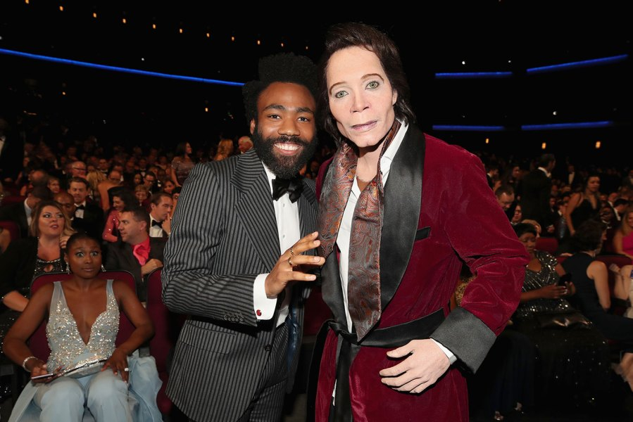 70th ANNUAL PRIMETIME EMMY AWARDS -- Pictured: (l-r) Actor Donald Glover and Teddy Perkins attend the 70th Annual Primetime Emmy Awards held at the Microsoft Theater on September 17, 2018. NUP_184221 (Photo by Christopher Polk/NBC/NBCU Photo Bank via Getty Images)
