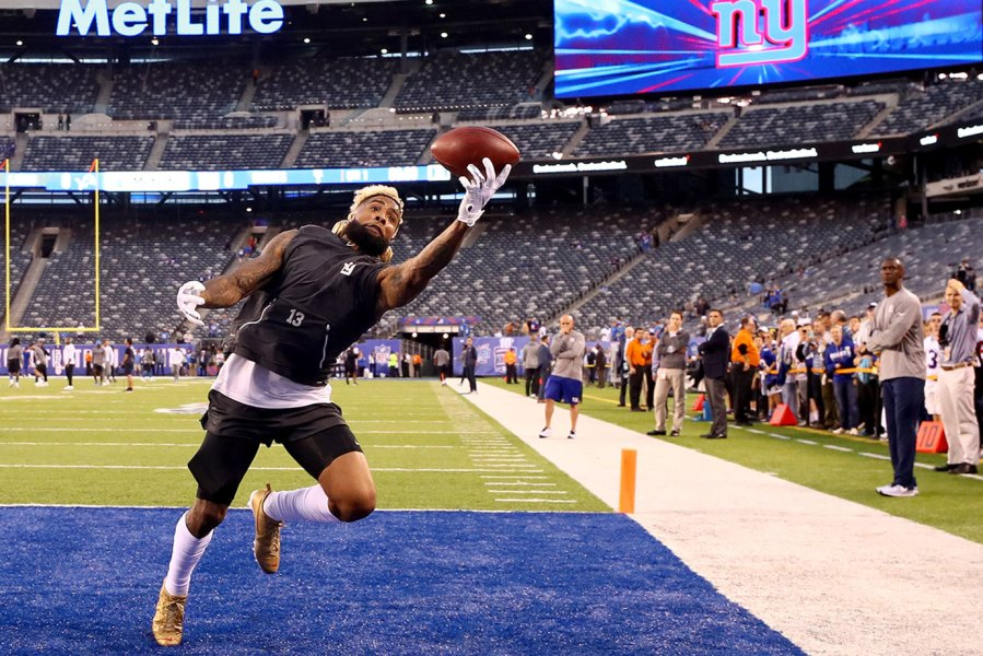 Odell Beckham of the NY Giants