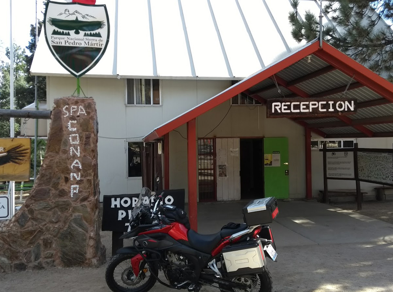 Park reception area in Sierra de San Pedro Mártir National Park, one of the few structures in the 170,000-acre wilderness