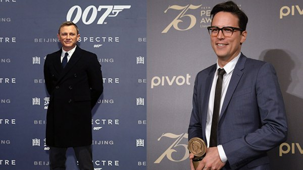L: Actor Daniel Craig attends 'Spectre' premiere at The Place on November 12, 2015 in Beijing, China. (Photo by VCG/VCG via Getty Images), R: Cary Fukunaga poses with award during The 75th Annual Peabody Awards Ceremony at Cipriani Wall Street on May 21, 2016 in New York City. (Photo by Gary Gershoff/Getty Images for Peabody)