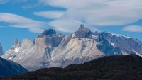 View of Cuernos del Paine Mountains from Grey Lake (Lago Grey) in Torres del Paine National Park in southern Chile. (Photo by Wolfgang Kaehler/LightRocket via Getty Images)
