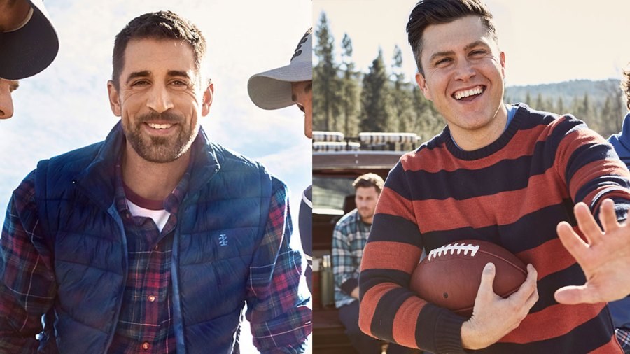 Colin Jost and Aaron Rodgers for Izod