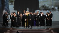 David Benioff (C) and cast and crew accept the Outstanding Drama Series award for 'Game of Thrones ' onstage during the 70th Emmy Awards at Microsoft Theater on September 17, 2018 in Los Angeles, California. (Photo by Kevin Winter/Getty Images)