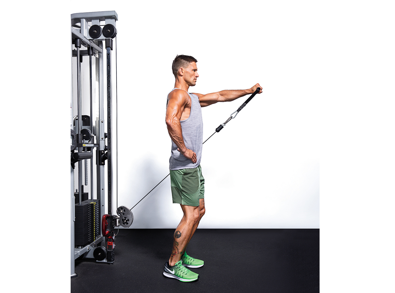 One-Arm Front Shoulder Raise
