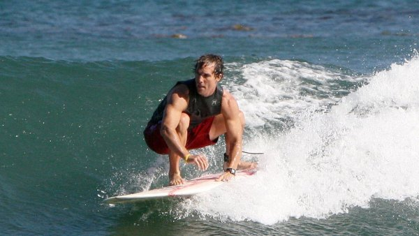 Matthew McConaughey surfing the waves in Malibu. JMI (Photo by Philip Ramey/Corbis via Getty Images)