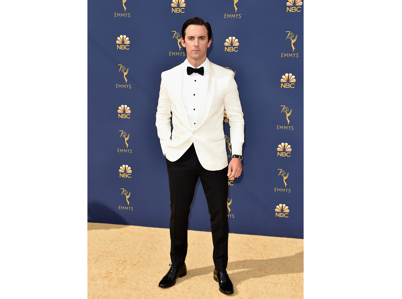 Milo Ventimiglia attends the 70th Emmy Awards at Microsoft Theater on September 17, 2018 in Los Angeles, California.
