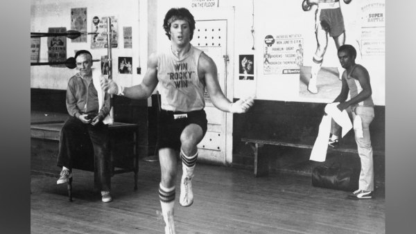 Sylvester Stallone Jumping Rope as Rocky Balboa