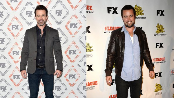 L: Rob McElhenney attends FX Networks Starwalk Red Carpet at TCA at The Beverly Hilton Hotel on August 3, 2018 in Beverly Hills, California. (Photo by Frazer Harrison/Getty Images), R: Actor Rob McElhenney attends the premiere party for FX's 'It's Always Sunny In Philadelphia' and 'The League' at ArcLight Cinemas Cinerama Dome on September 13, 2011 in Hollywood, California. (Photo by Jason LaVeris/FilmMagic)